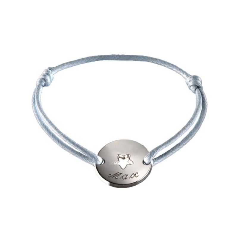 Petits Trésors Bracelet Mini Jeton Star Argent