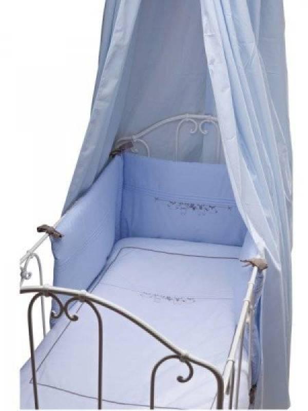 Tartine et chocolat ciel de lit trousseau bleu - Ciel de lit bleu ...