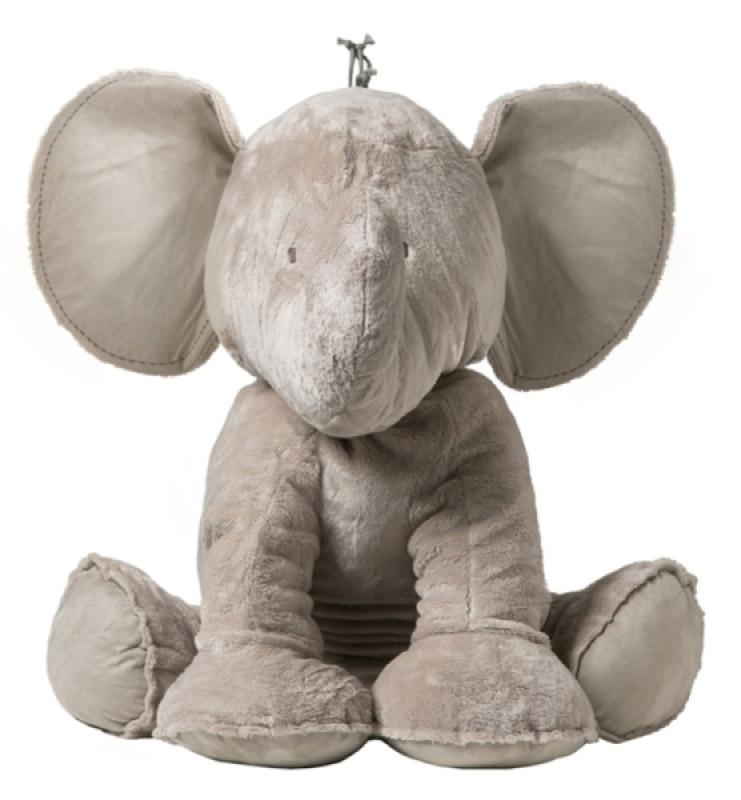 Peluche Eléphant Ferdinand Taupe - 90 cm de chez Tartine et Chocolat, collection Ferdinand l'éléphant