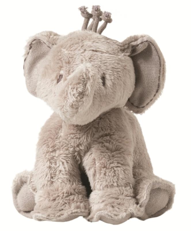 Tartine et Chocolat Peluchette Eléphant Ferdinand Taupe - 12 cm