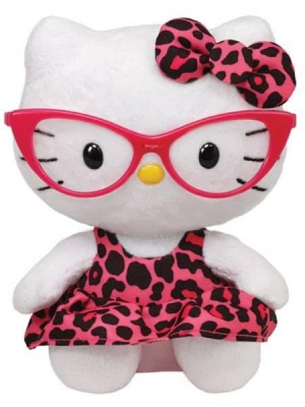 Ty Peluchette Hello Kitty Lunettes Beanie Babies - 15 cm