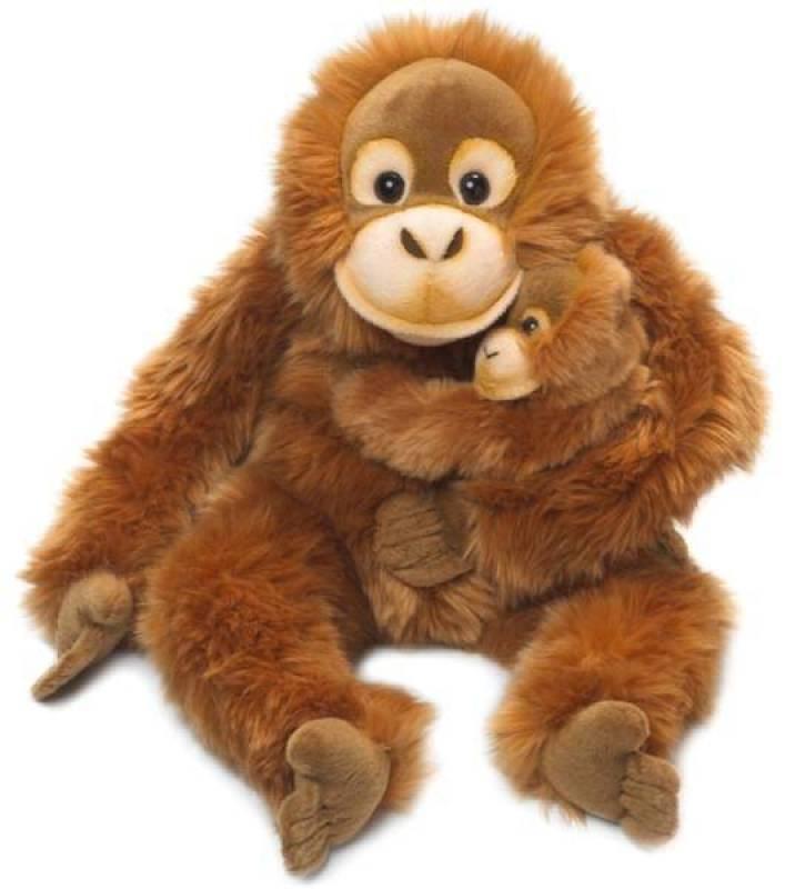 WWF Peluche Maman Orang Outang avec Bébé - 25 cm