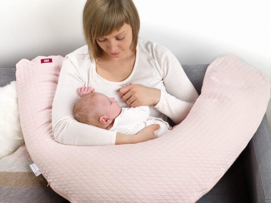 Coussin de Maternité Big Flopsy Rose Poudré Fleur de Coton