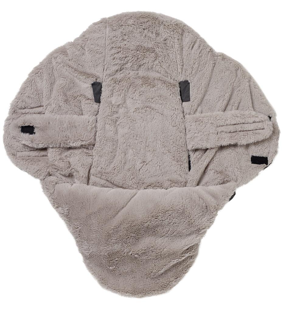Babynomade Double Polaire Navy Camel - 6/12 mois