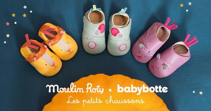Chaussons en Cuir Lion Les Papoum - 6/12 mois