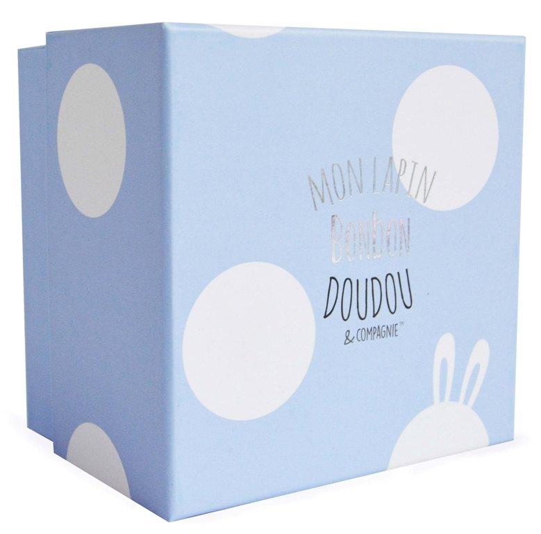 Peluche Lapin Bonbon Bleu 30 cm