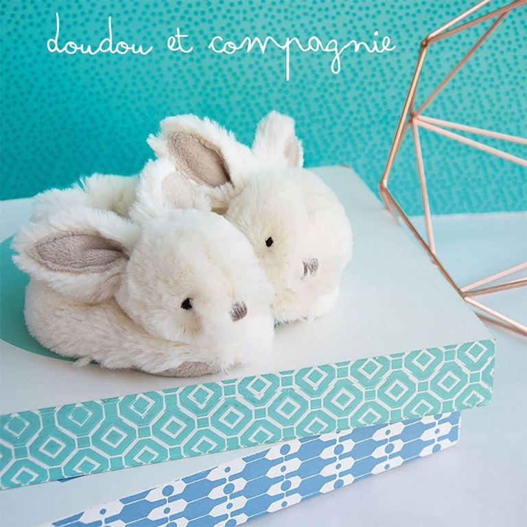 Coffret Chaussons Lapin Taupe