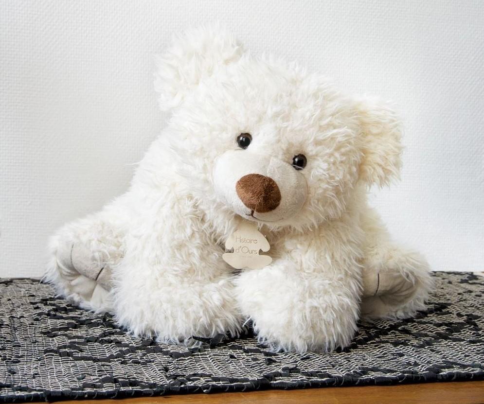 Peluche Pat'Ours Blanc - 50 cm