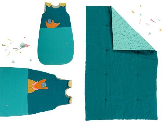 moulin roty edredon bleu les tartempois 70x135 cm. Black Bedroom Furniture Sets. Home Design Ideas