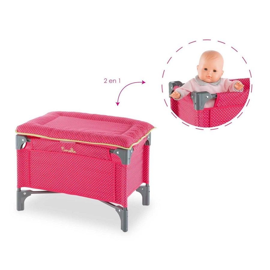 Corolle lit table langer pour poupon de 36 42 cm for Table a langer pour lit
