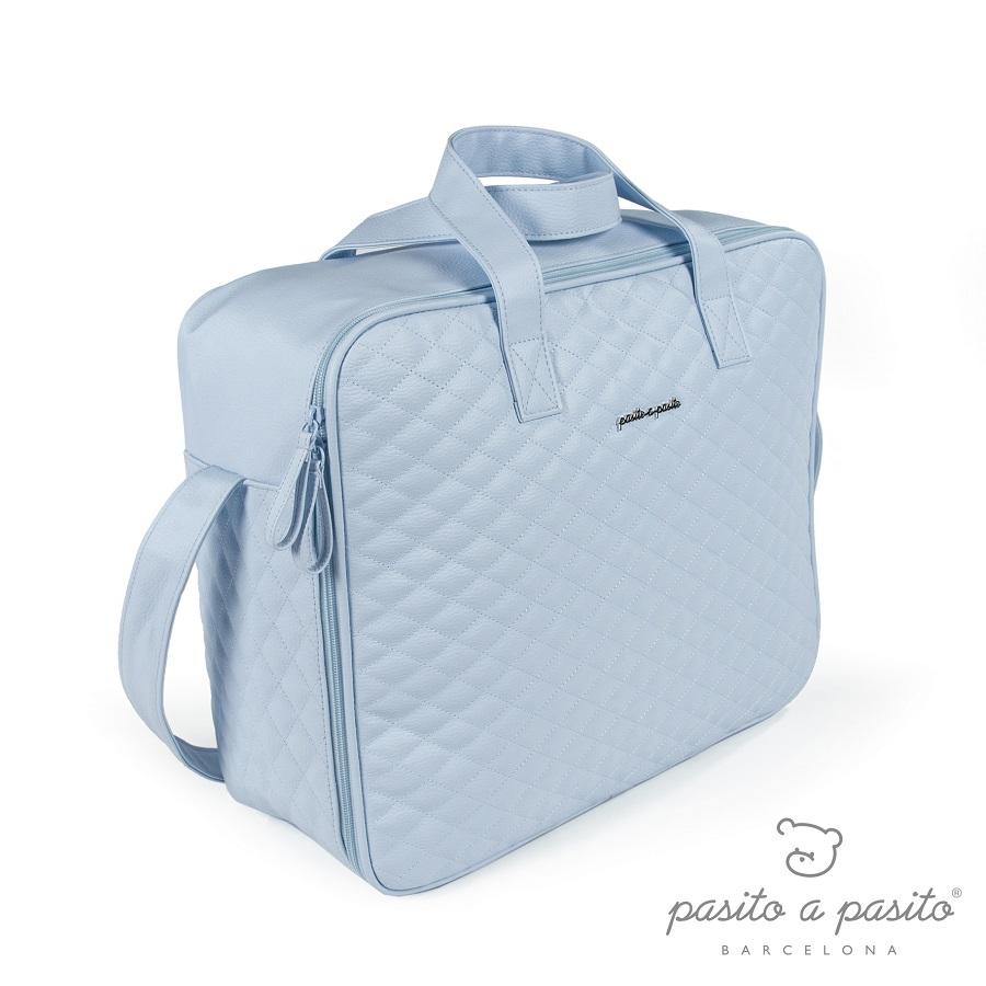Valise de Maternité Matelassée Ines Bleu