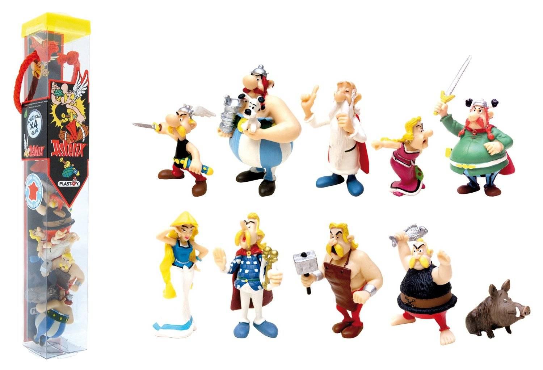 Plastoy tubes de personnages ast rix et ob lix 10 figurines - Personnage asterix et obelix ...