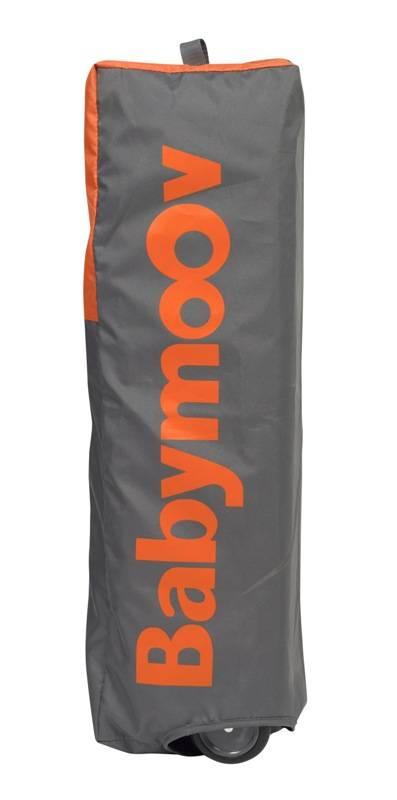 Babymoov lit parapluie moonlight gris orange - Lit parapluie babymoov moonlight ...