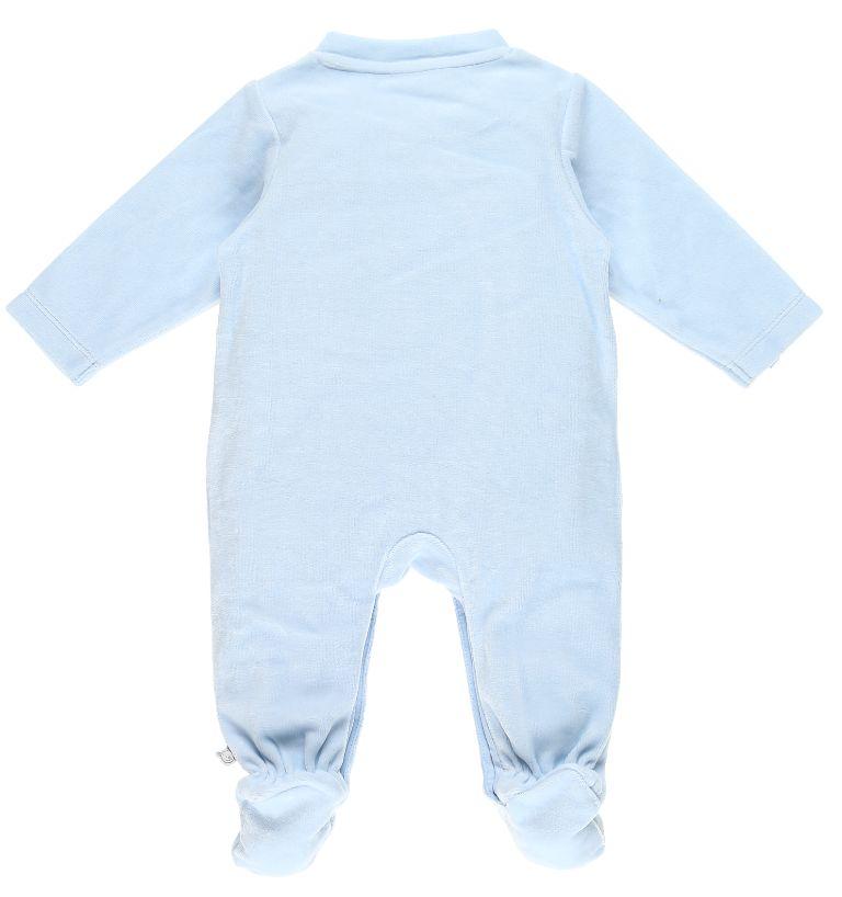 Pyjama Achille et Zebrito Bleu Cocon - 1 Mois