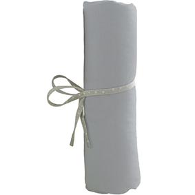 Lot de 2 Draps Housse Blanc et Gris- 60x120 cm