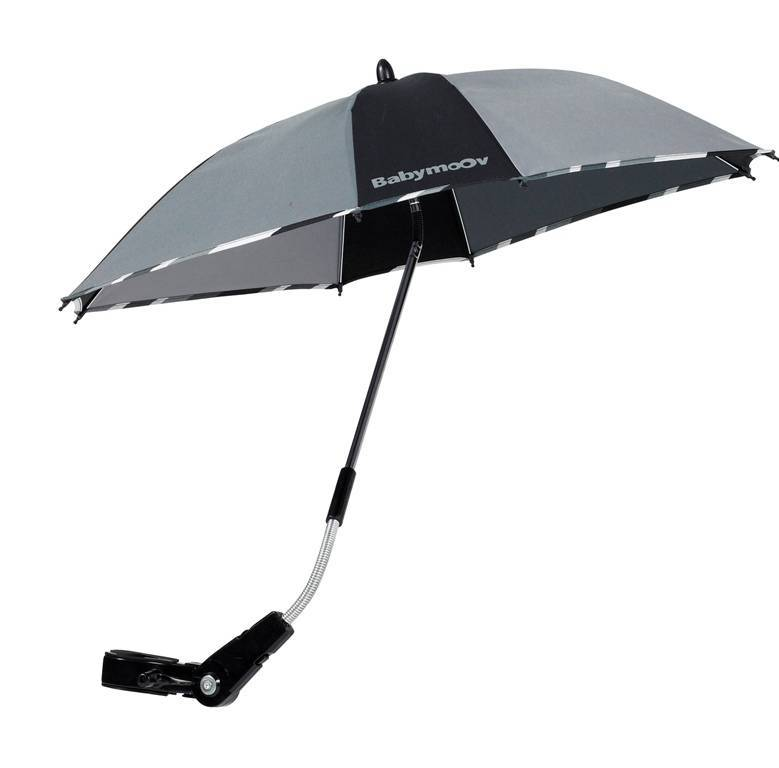 babymoov ombrelle anti uv noir gris doudouplanet. Black Bedroom Furniture Sets. Home Design Ideas