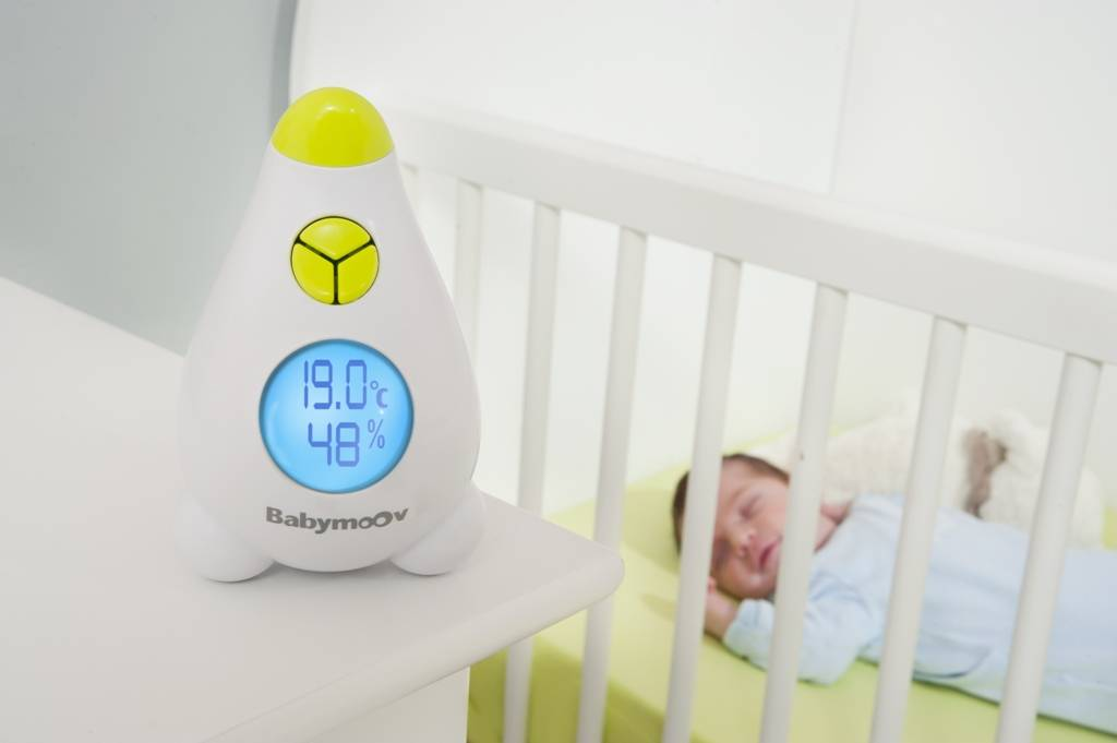 Babymoov thermom tre hygrom tre doudouplanet for Thermometre chambre