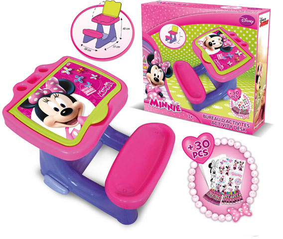 d 39 arp je bureau d 39 activit avec set de coloriage minnie. Black Bedroom Furniture Sets. Home Design Ideas