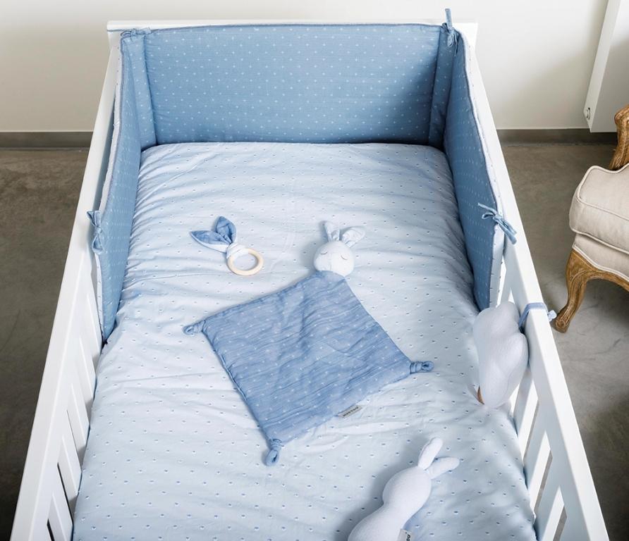 Doudou Lapin Pure Bleu