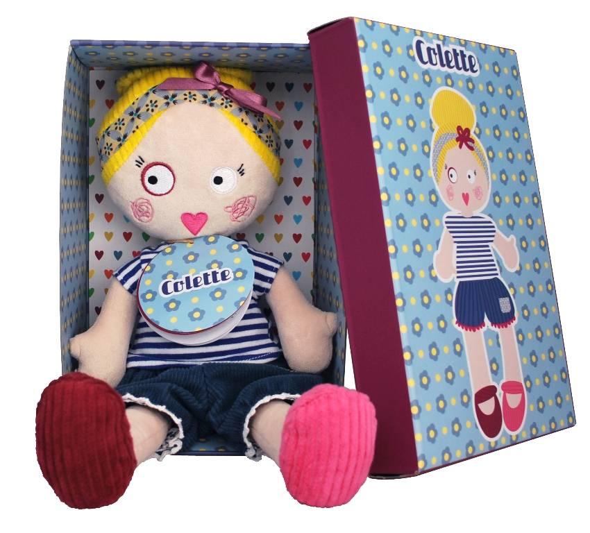 Les mistinguettes poup e mistinguette colette 34 cm - Colette gaze et son bebe ...