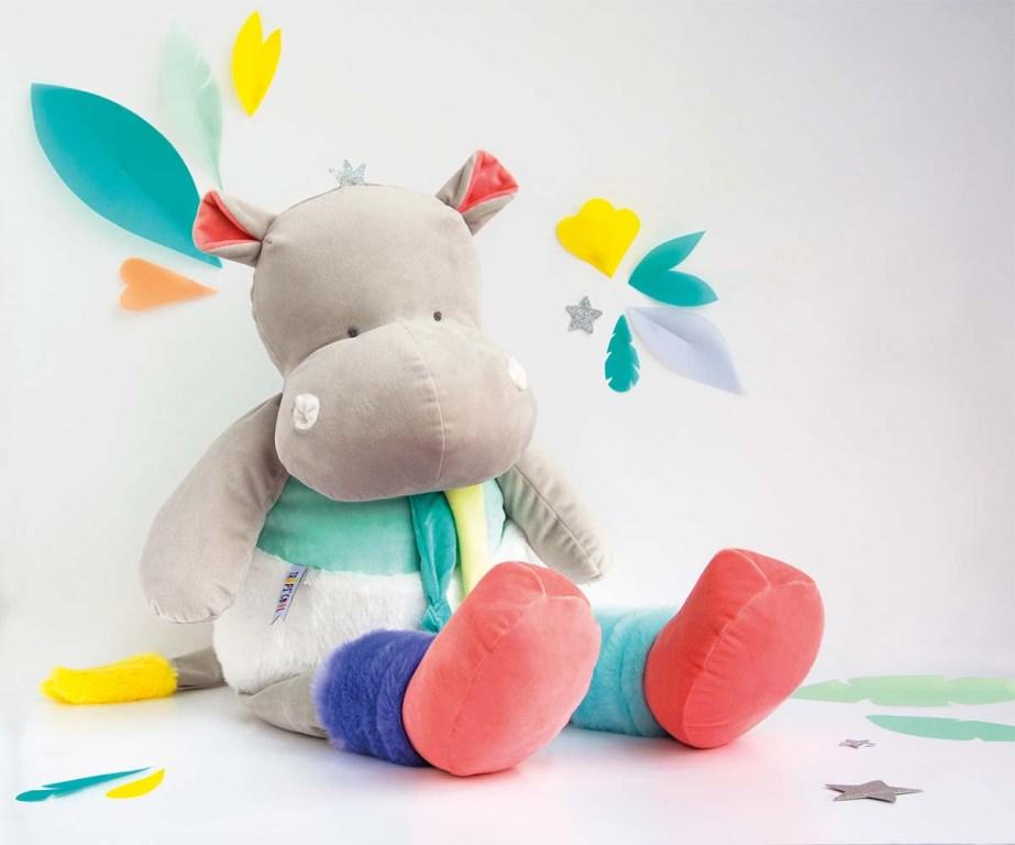 Peluche Hippo Tropi'Cool XXL - 80 cm