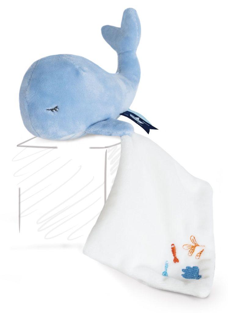 Peluche Baleine Bleue et Doudou Sous l'Océan