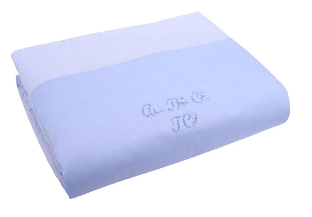tartine et chocolat housse de couette et taie oxford bleu. Black Bedroom Furniture Sets. Home Design Ideas