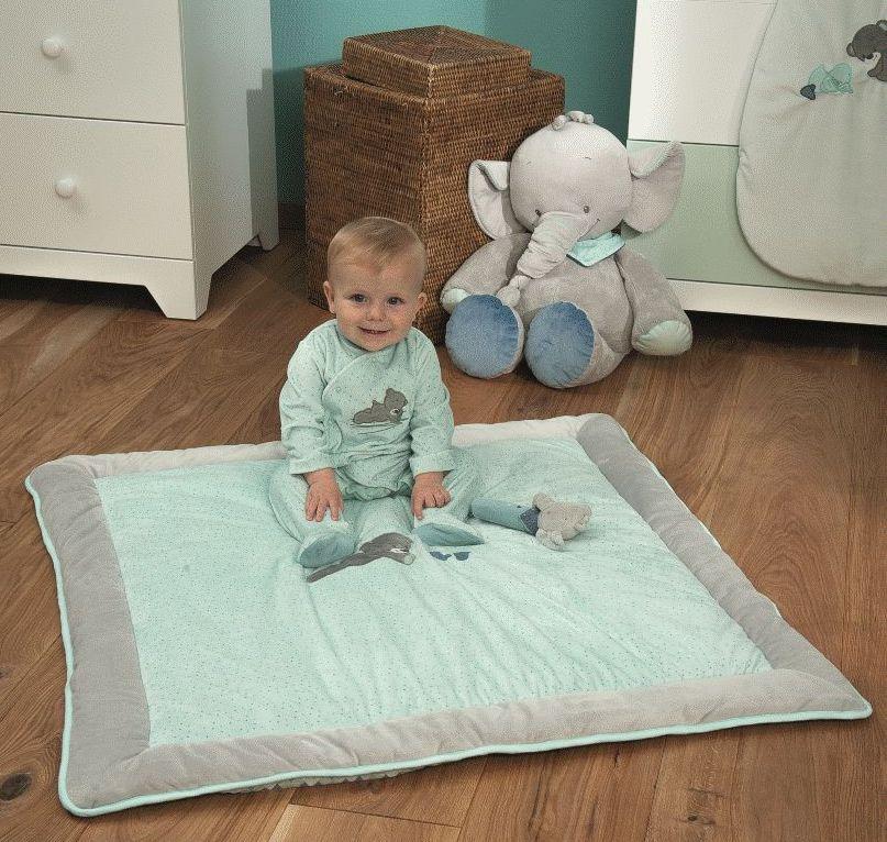 nattou tapis de parc jack jules nestor 100x100 cm. Black Bedroom Furniture Sets. Home Design Ideas