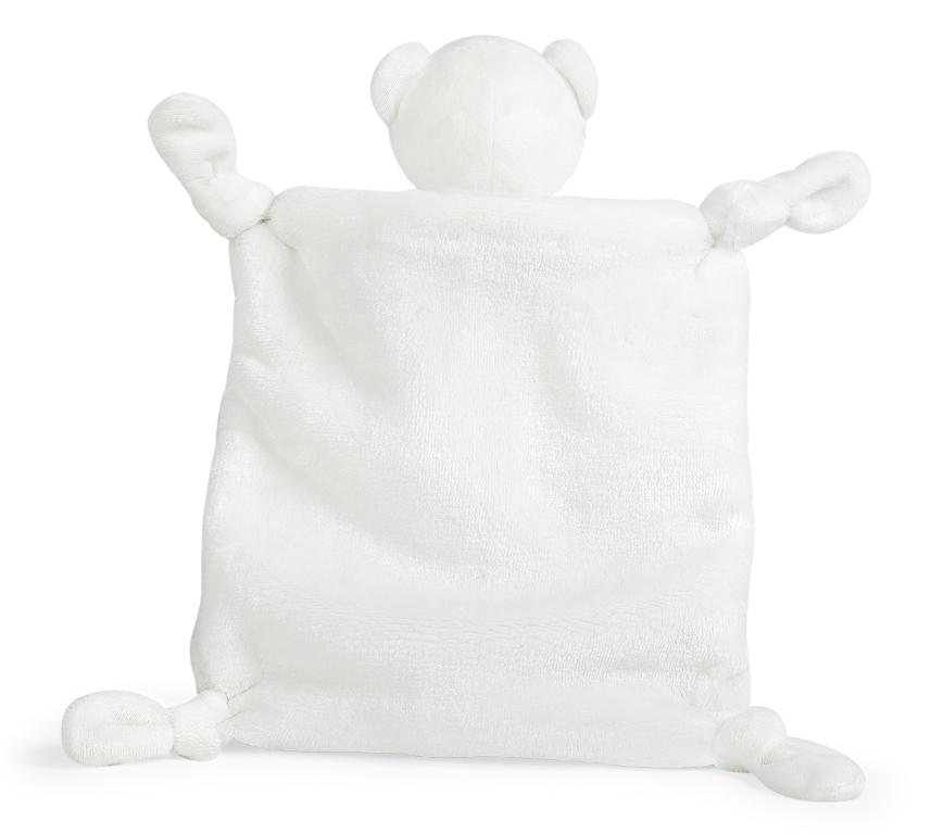 Doudou Ours Gris et Crème Bébé Pastel - 20 cm