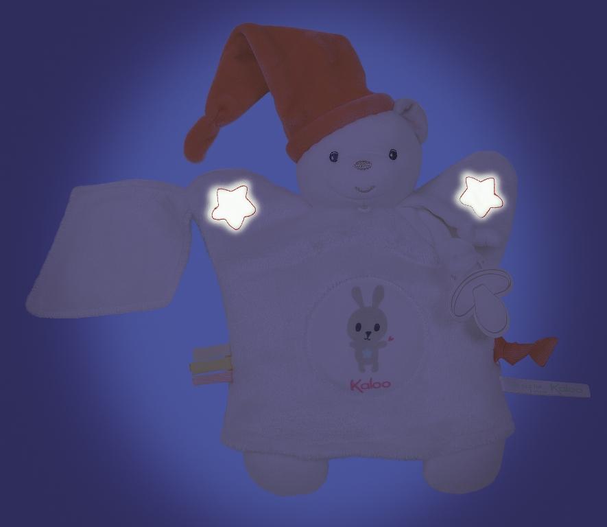 Doudou Marionnette Ourson Blanc Imagine