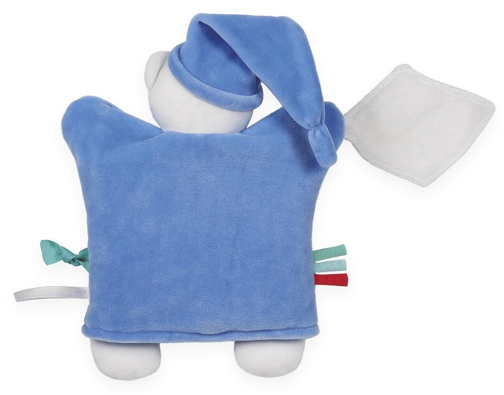 Doudou Marionnette Ourson Bleu Imagine