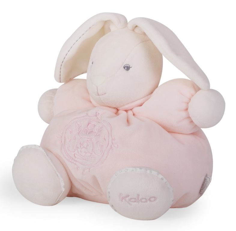 Peluche Lapin Patapouf Rose Perle - 25 cm