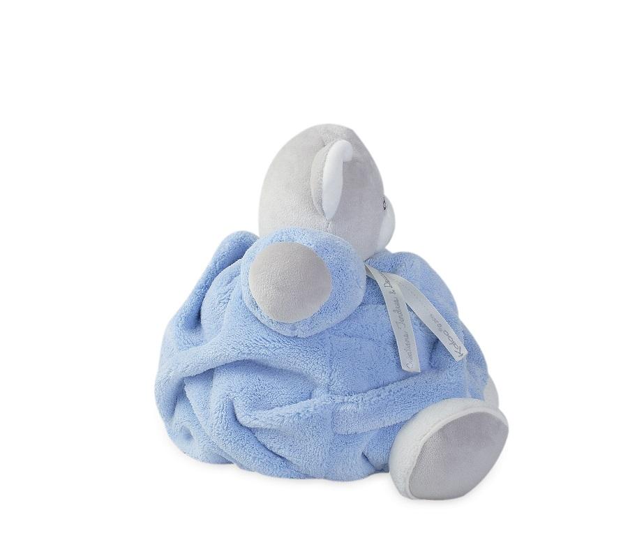 Peluche Ours Patapouf Bleu Plume Medium - 25 cm