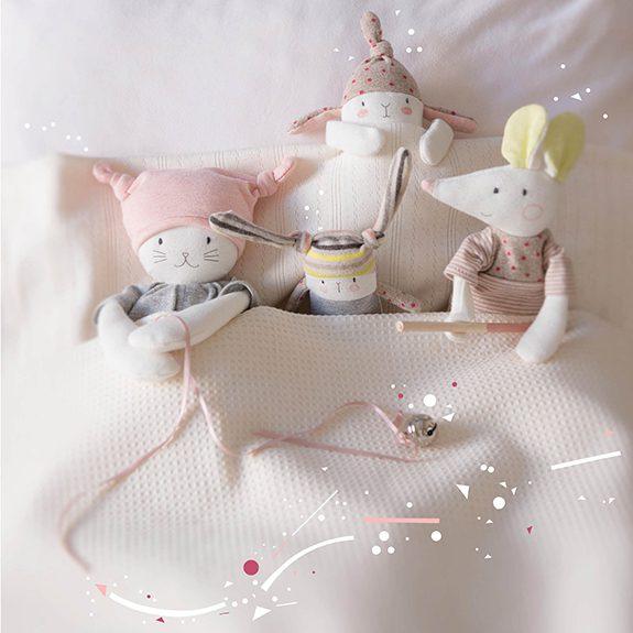 Hochet Chat Moon Les Petits Dodos - 13 cm