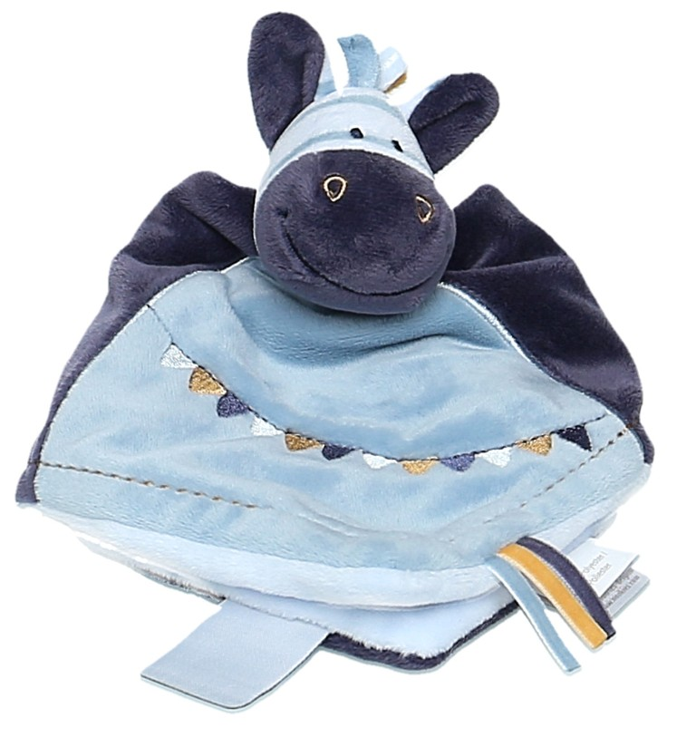 Doudou Zèbre Zèbrito Tidou Couverture Bleue Guirlande Noukies Noukies Etat Neuf