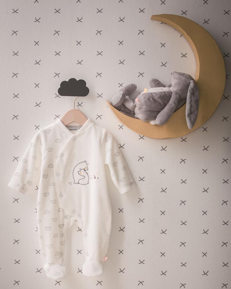 Pyjama Velours Timeless - 3Mois