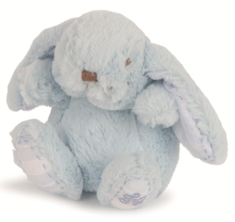 Peluchette Lapin Augustin Bleu - 12 cm
