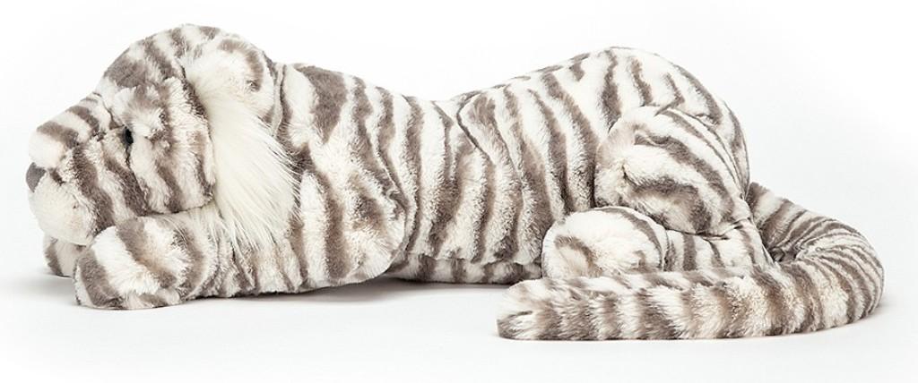 Peluche Tigre des Neiges Sacha - 74 cm