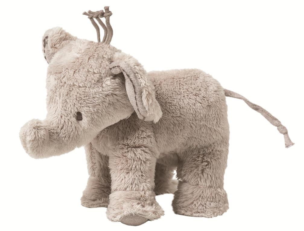 Peluche Eléphant Ferdinand Taupe - 12 cm