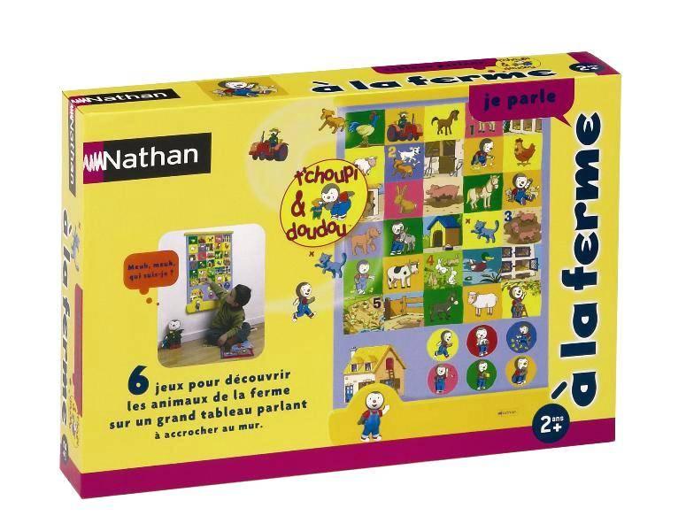 nathan jeux tableau la ferme tchoupi. Black Bedroom Furniture Sets. Home Design Ideas