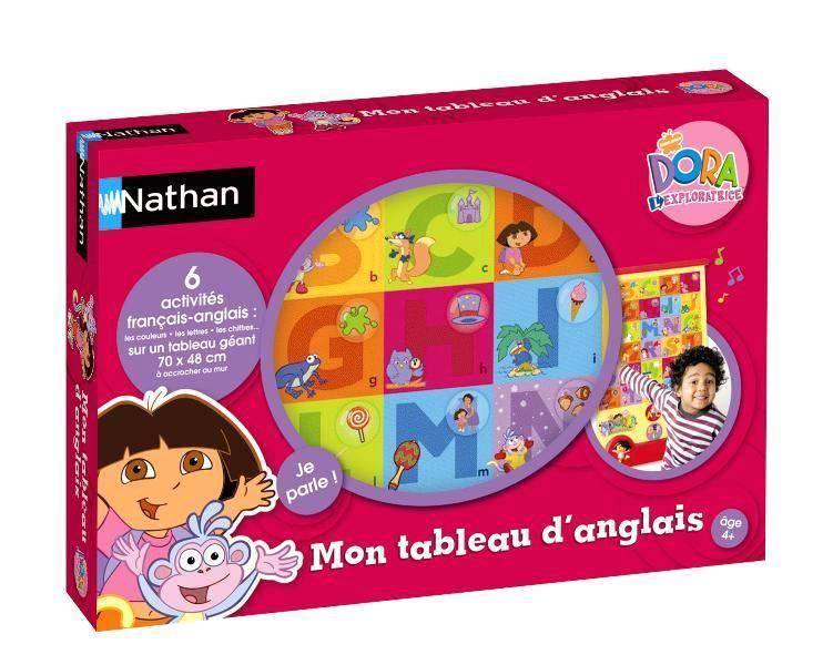 Nathan Jeux Mon Tableau D Anglais Dora Doudouplanet
