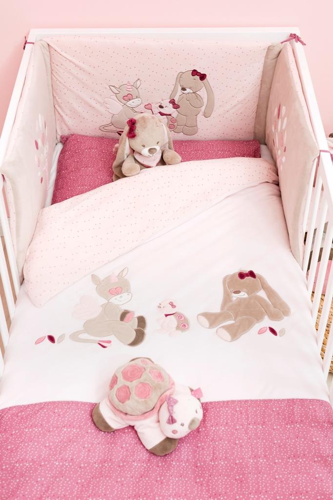 nattou tour de lit nina jade et lili doudouplanet. Black Bedroom Furniture Sets. Home Design Ideas