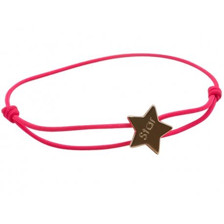Bracelet Cordon Etoile Plaqué Or