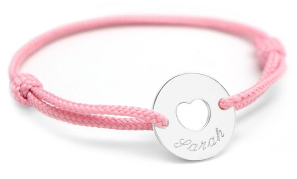 Bracelet Mini Jeton Coeur Argent