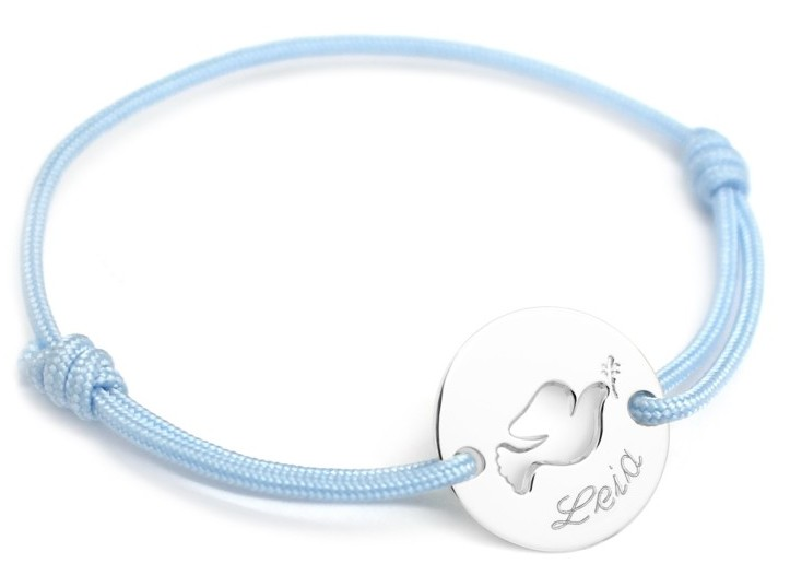 Bracelet Mini Jeton Colombe Argent
