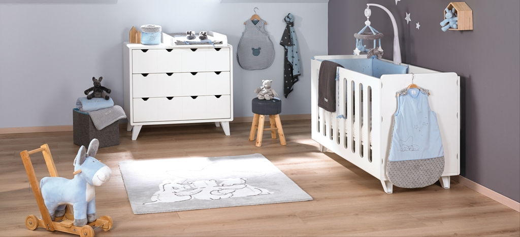 noukies tour de lit poudre etoile bleu doudouplanet. Black Bedroom Furniture Sets. Home Design Ideas