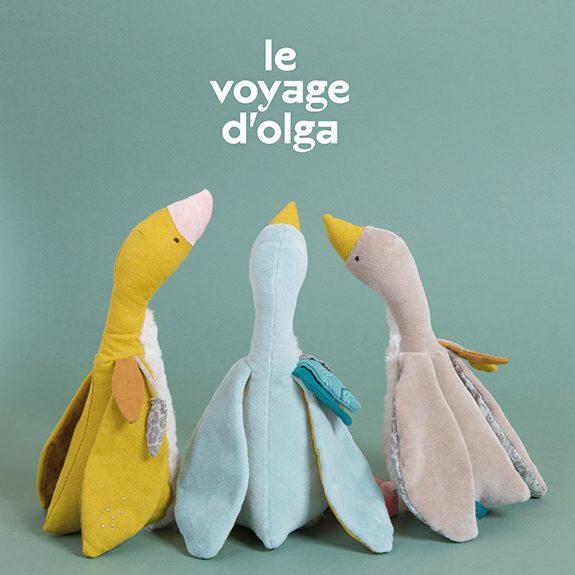 Peluche Oie Plumette Bleue Le Voyage d'Olga - 23 cm