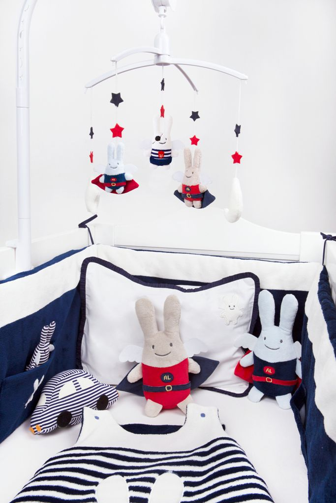 trousselier tour de lit complet et tour parc ange lapin. Black Bedroom Furniture Sets. Home Design Ideas