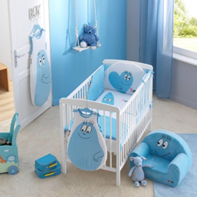 babycalin tour de lit barbidul bleu doudouplanet. Black Bedroom Furniture Sets. Home Design Ideas