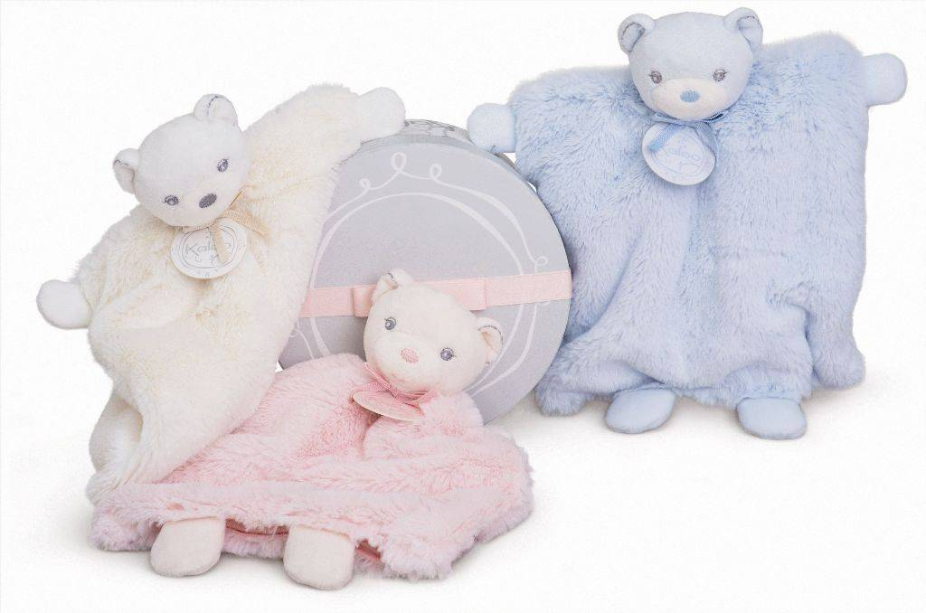 Doudou Marionnette Ours Rose Perle